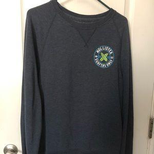 Navy Blue Hollister Sweatshirt
